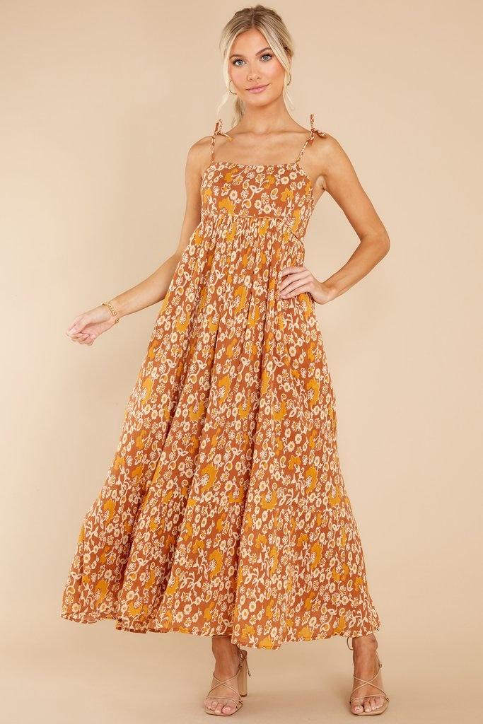 Olivia James the Label Malin Dress in Cafe Floral Vine