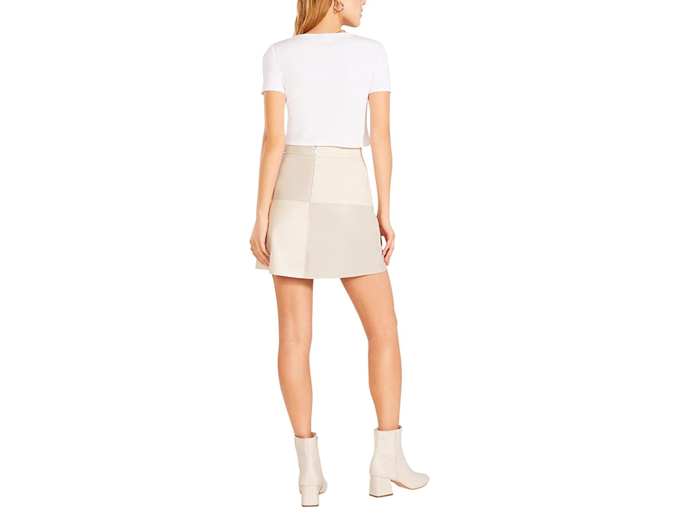 BB Dakota Patch Perfect Bone Skirt