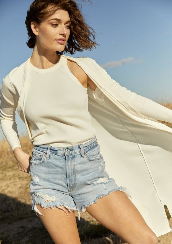 S'edge Apparel Lindsey Duster White
