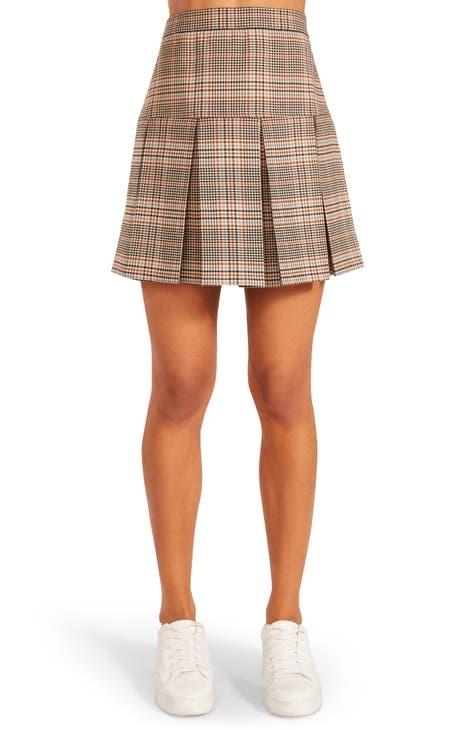 BB Dakota Check the Time Skirt