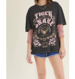 Project Social T Tiger Snake Oversized Tee One Size
