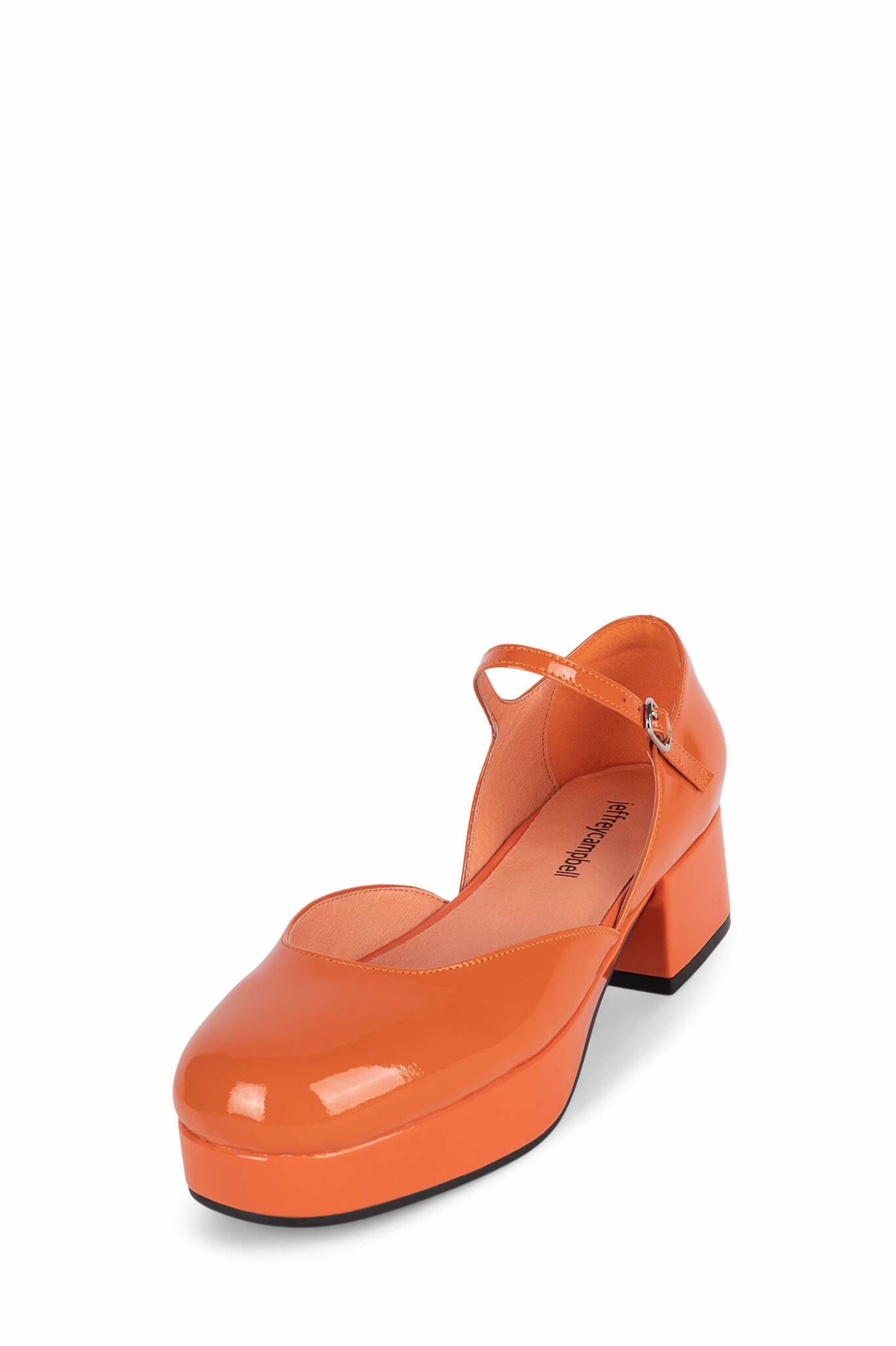 Jeffrey Campbell Ecolier Orange Patent