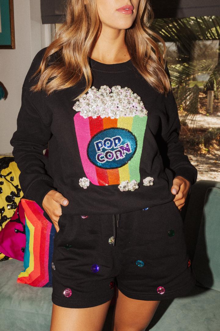 Queen of Sparkles Pearl Popcorn Sweatshirt