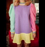 Queen of Sparkles Colorblock Rhinestone Dress