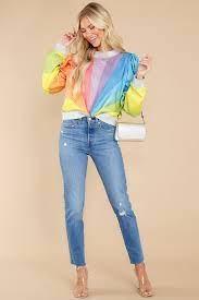 Queen of Sparkles Sunburst Rainbow Sweatshirt