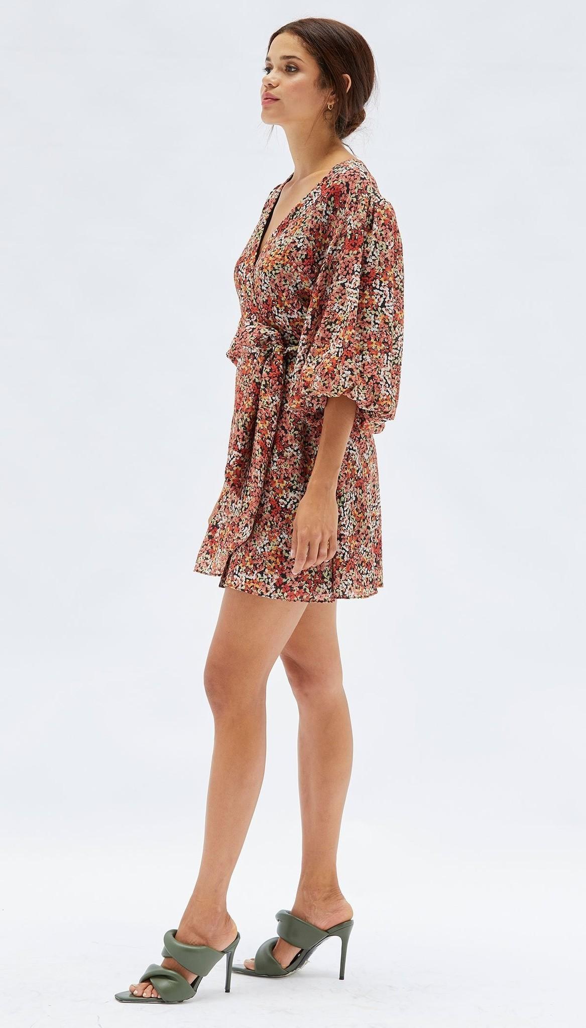 MINKPINK Gabae Wrap Mini Dress