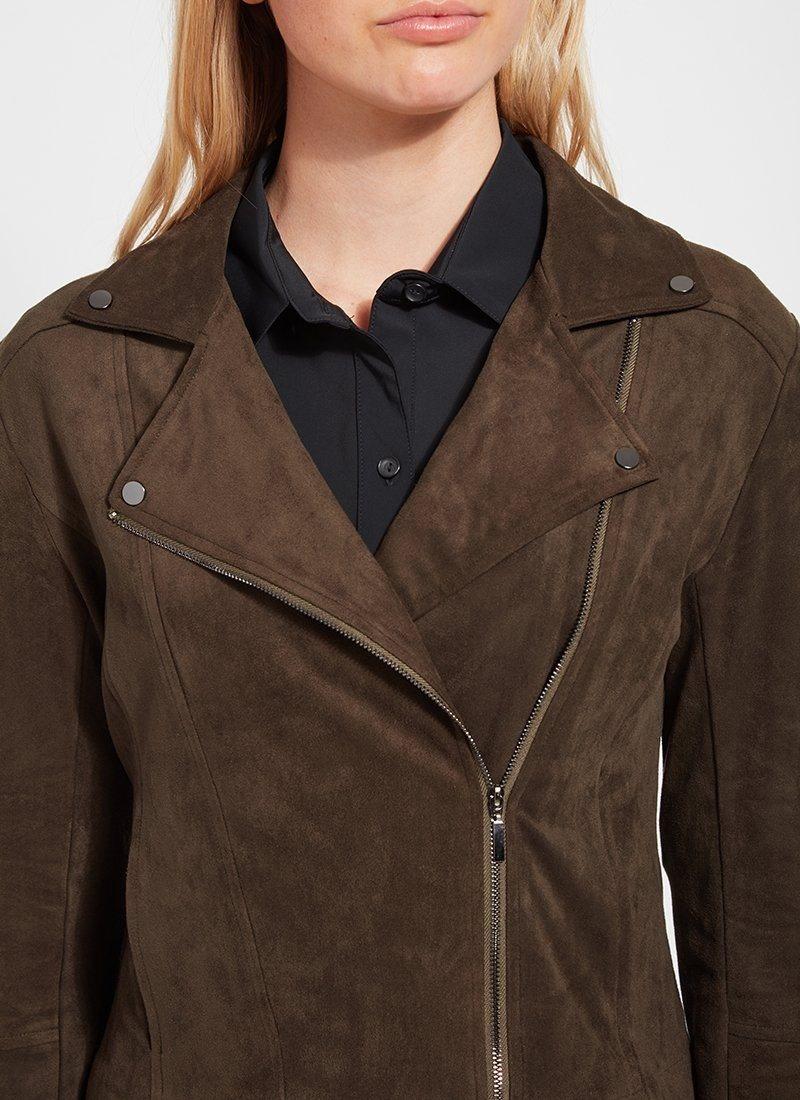 Lysse Deep Olive Essential Moto Jacket