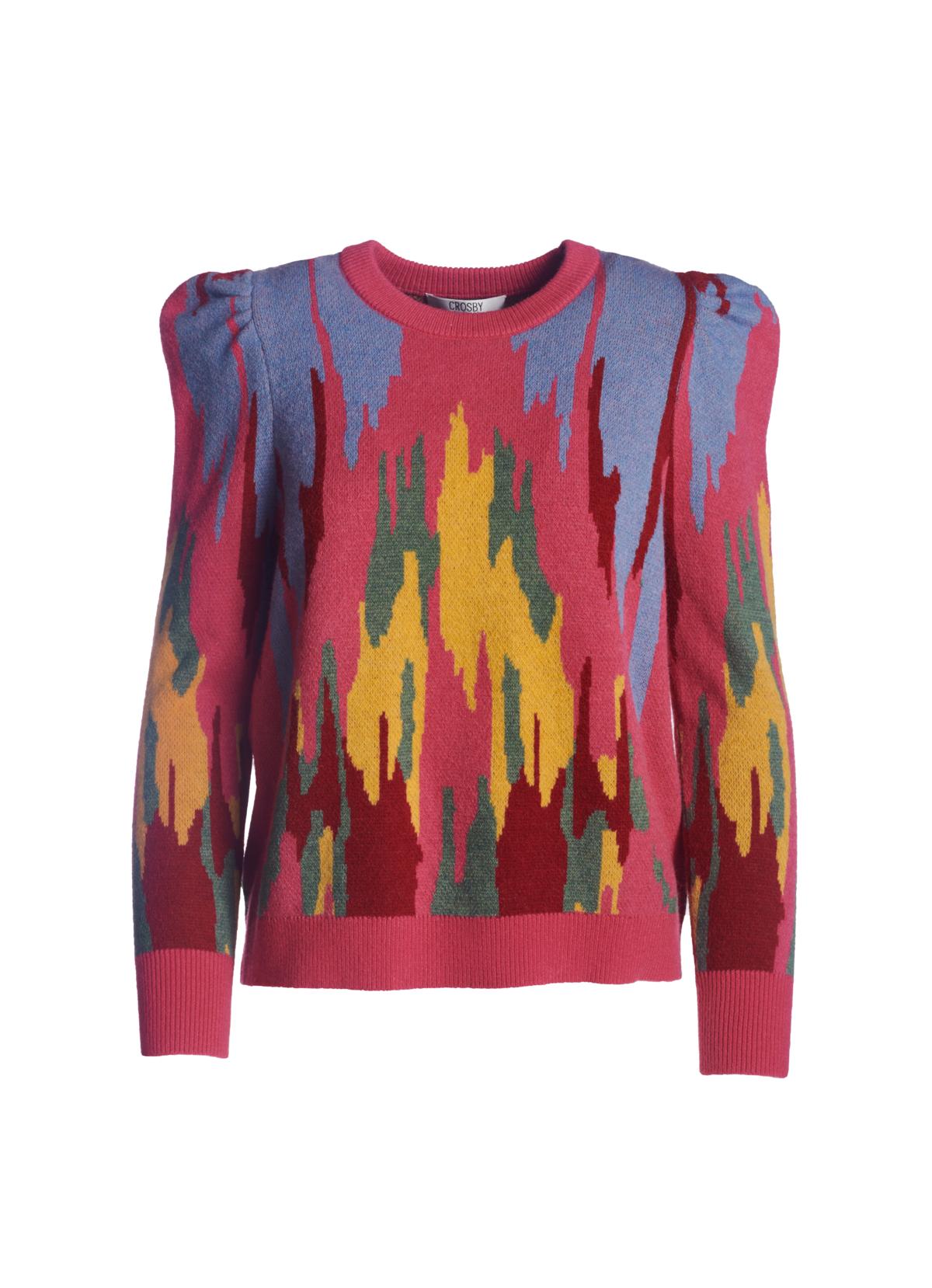 Crosby By Mollie Burch Bixby Sweater Electric Ikat