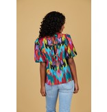 Crosby By Mollie Burch Remi Top Electric Ikat