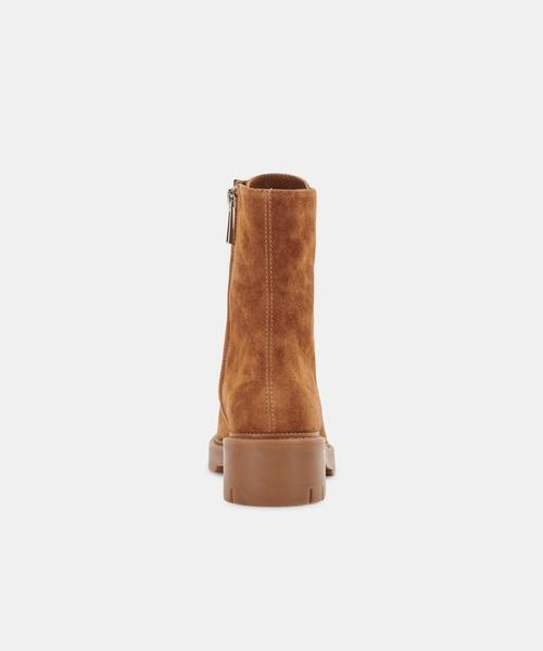 Dolce Vita Lottie Boots in Saddle Suede
