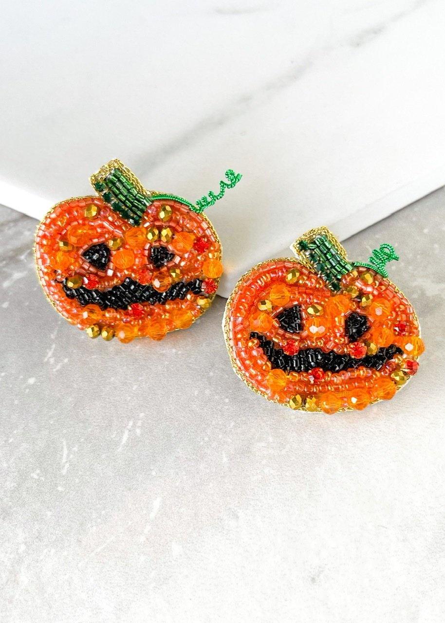 Dos Femmes Jack-O'-Lantern Earrings