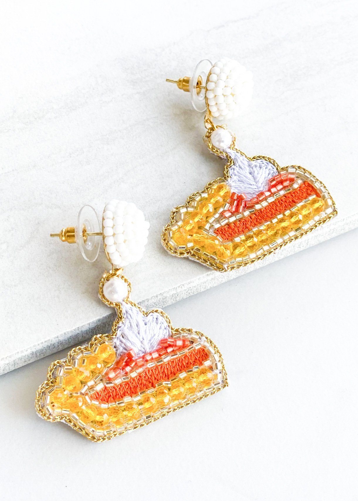 Dos Femmes Pumpkin Pie Earrings