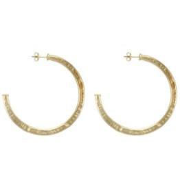 Sheila Fajl Smaller Everybody's Favorite Hoops Gold Hammered