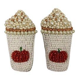 Allie Beads Pumpkin Spice Latte Earrings