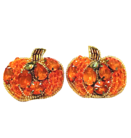 Allie Beads Pumpkin Earrings