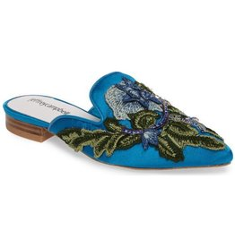 Jeffrey Campbell Claes Blue Velvet Slides