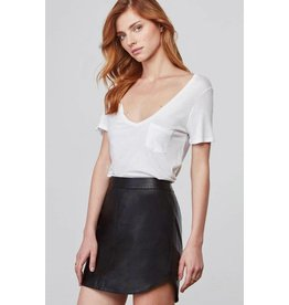 BB Dakota Conrad Leather Mini Skirt