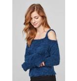BB Dakota Calista Eyelash Off Shoulder Sweater
