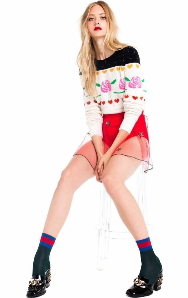 Wildfox Couture Rose Fair Isle Shining Sweater