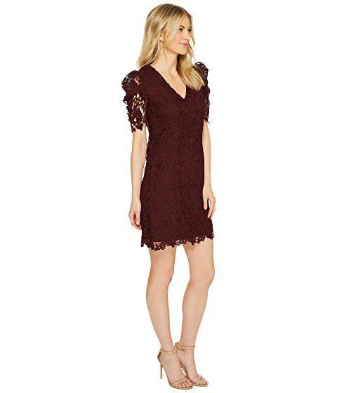 Donna Morgan Grace Wine Lace Dress