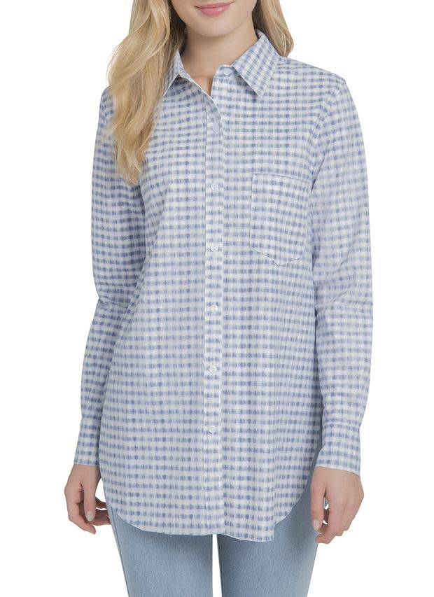 Lysse Schiffer Button Down in Gingham