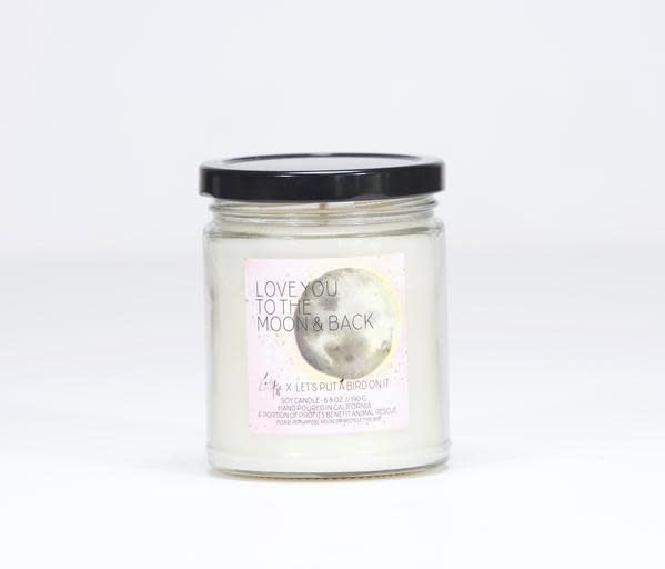 Let's Put a Bird On It Love You To The Moon and Back Jar - Coconut Vanilla