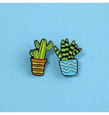 Punky Pins Cactus Duo Pin Set Blue/Orange