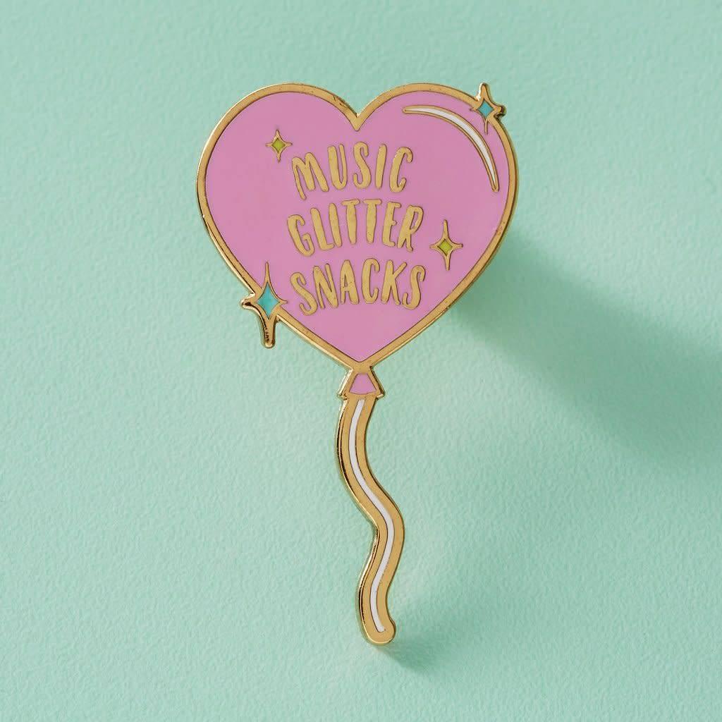 Punky Pins Glitter, Music, Snacks
