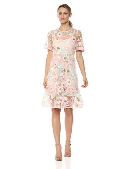 Donna Morgan Bonnie  Pink/Mint Lace Dress