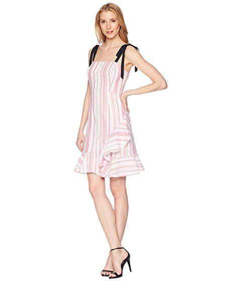Donna Morgan Darcie Pink Stripe Dress