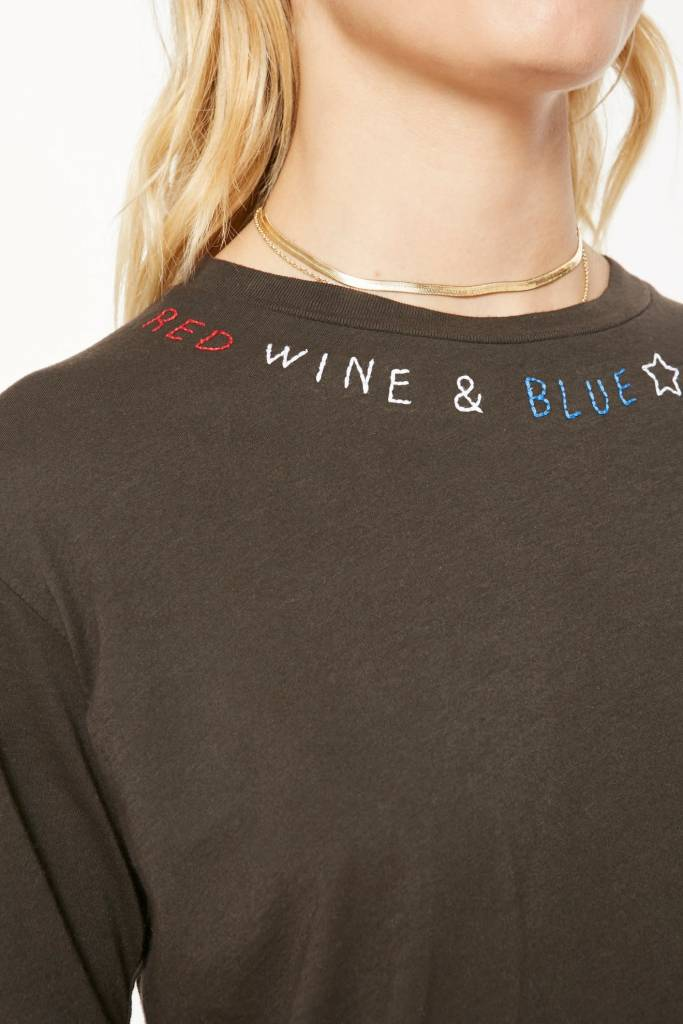 Project Social T Red, White and Blue Embroidered Tee