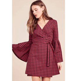 Jack by BB Dakota Alter Ego Bell Sleeve Wrap Dress