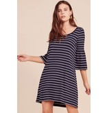 BB Dakota Shades of Cool Striped Dress