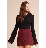 Jack by BB Dakota Can't Buy Me Love Snap Front Skirt