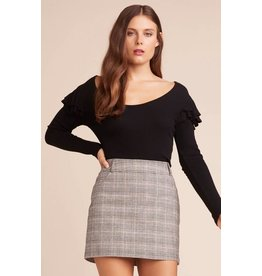 Jack by BB Dakota Everything Nice Glencheck Skirt