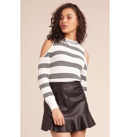 BB Dakota Some Like it Hot Cold Shoulder Sweater