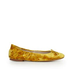 Sam Edelman Felicia Yellow Crushed Velvet