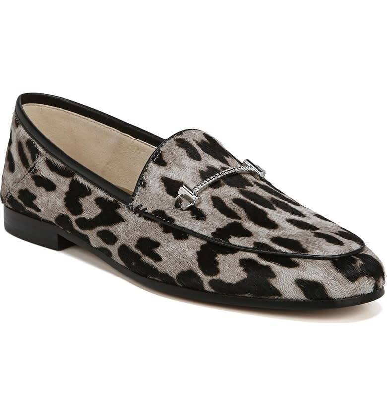 Sam Edelman Loraine Grey Leopard Loafer