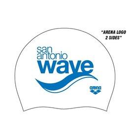 SA WAVE Arena Silicone Cap-White