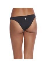TYR Women's Solid Micro Bikini Bottom Black Small
