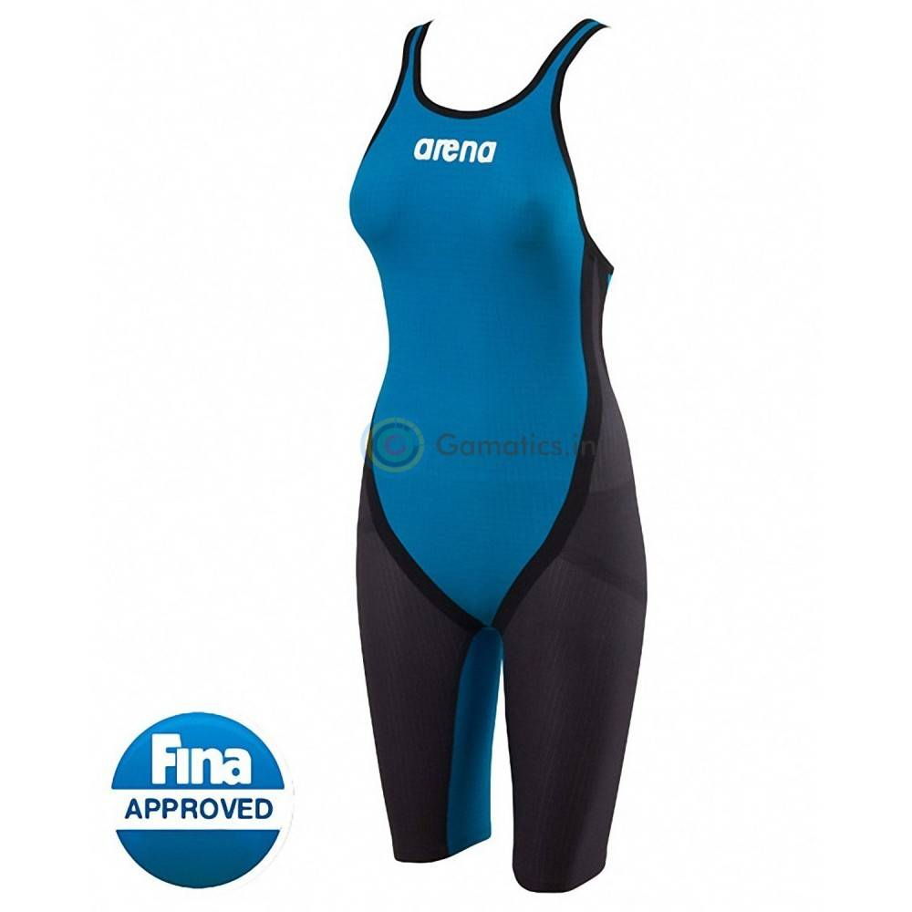 Arena Carbon Flex OB Kneeskin / Grey-Cyan 30