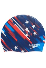 Speedo Elastomeric Silicone Printed Cap