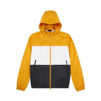 Nike USA, Inc. Nike SB Dry Jacket Hooded Stripe Yellow Ochre/White/Anthracite