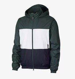 Nike USA, Inc. Nike SB Dry Jacket Hooded Stripe Midnight Green/White/Obsidian
