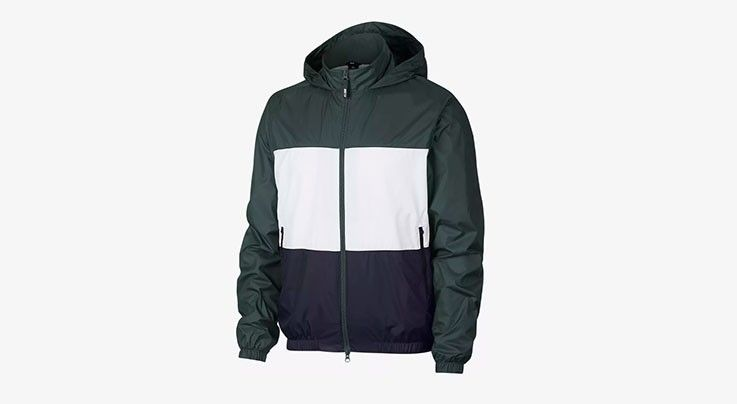 Nike USA, Inc. Nike SB Dry Jacket Hooded Stripe Midnight Green/White/Obsidian
