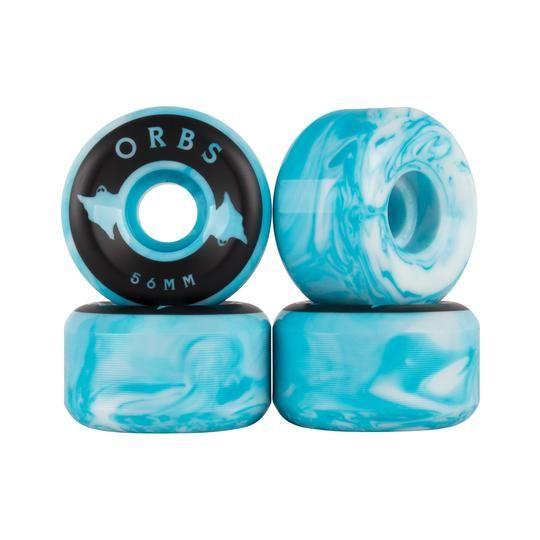 Welcome Skateboards Orbs Specters Swirls Blue/White 56mm