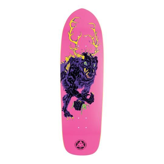 "Welcome Skateboards Wendigo on Magic Bullet Neon Pink 9.5"""