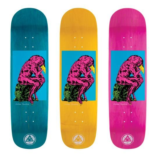 Welcome Skateboards Crinker on Nibiru Blue/Various Stains 8.75""