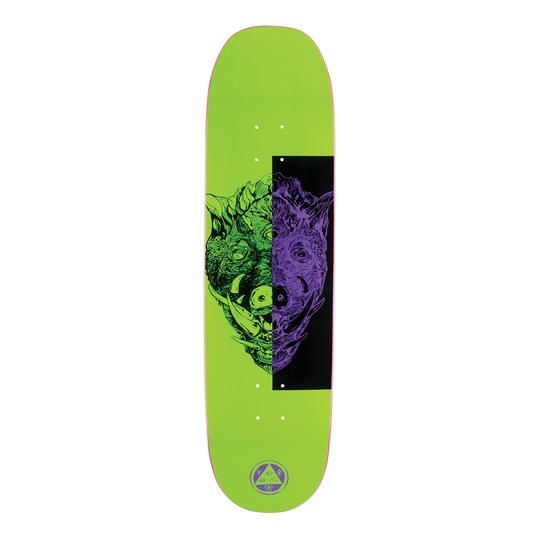 Welcome Skateboards Hog Wild on Moontrimmer 2.0 Neon Green 8.5""