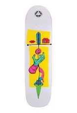 """Welcome Skateboards Obelus on Son of Planchette White/Yellow 8.38"""""""